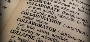 "Dictionary page on ""collaboration"""