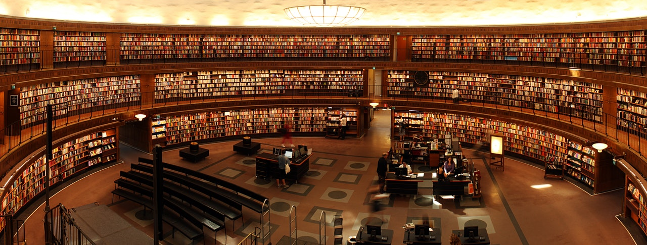 library wide angle