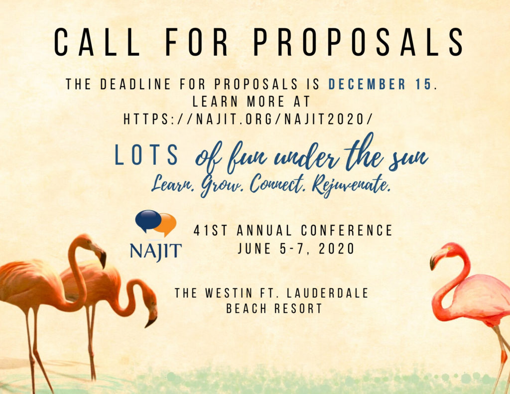 Cal for proposal deadline is December 15, 2019.